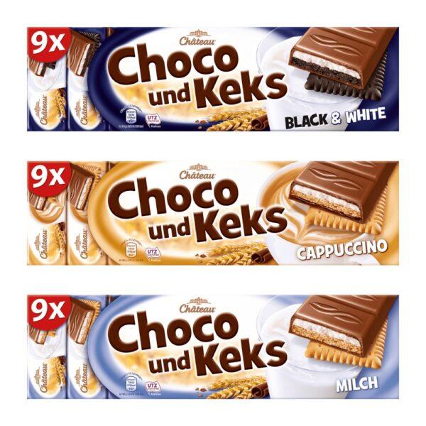 Choceur Choco und Keks diverse sortimente