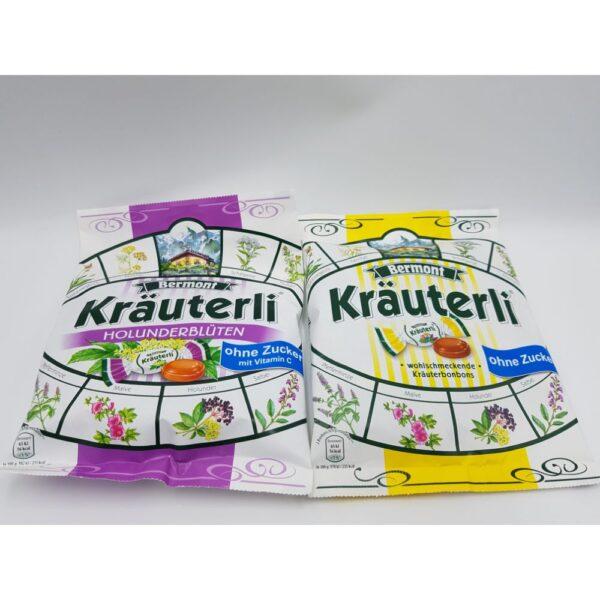 Bomboane Krauterli bonbons fara zahar 125g